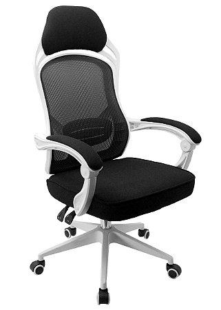 Cadeira De Escritório Tóquio Branca/Preto - Anatômica