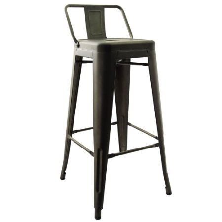 Banqueta Tolix Marrom Fosca - Design Industrial (76 Cm)