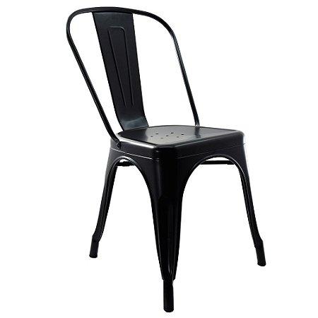 Cadeira Tolix Iron Preta Fosca - Design Industrial