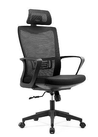 Cadeira De Escritório Presidente Nápoles Preta - Anatômica