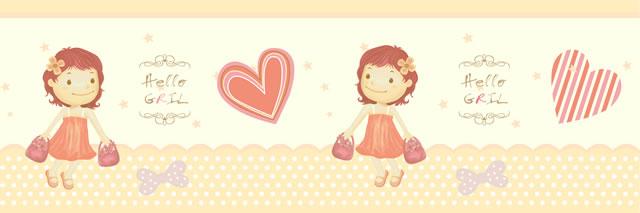 Papel de parede (Border) Girl (Infantil) - Cód. GB71102