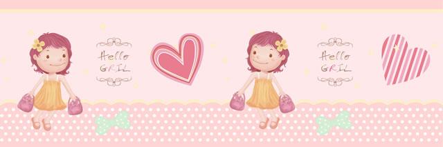 Papel de parede (Borde) Girl (Infantil) - Cód. GB71103