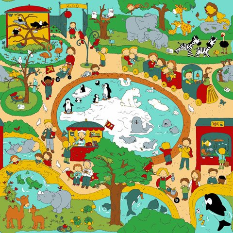 Papel de parede Safari Frieds (Infantil) - Cód. SF6205