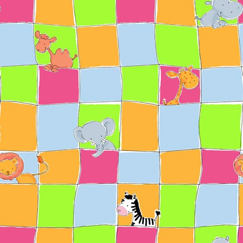 Papel de parede Safari Frieds (Infantil) - Cód. SF6219