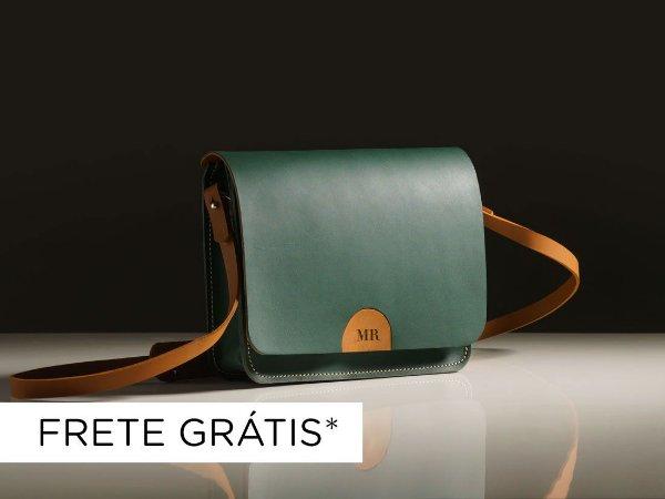 Bolsa Alma - Couro Verde