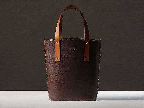 Tote Bag Andaluz - Couro marrom Café