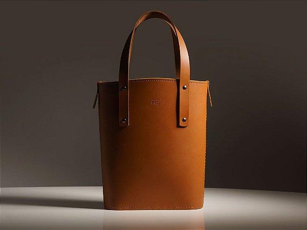 Tote Bag Andaluz - Couro Caramelo