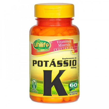 Potássio K - 60 cápsulas - Unilife Vitamins