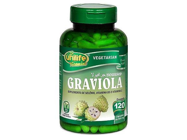 Graviola - 120 cápsulas - Unilife Vitamins