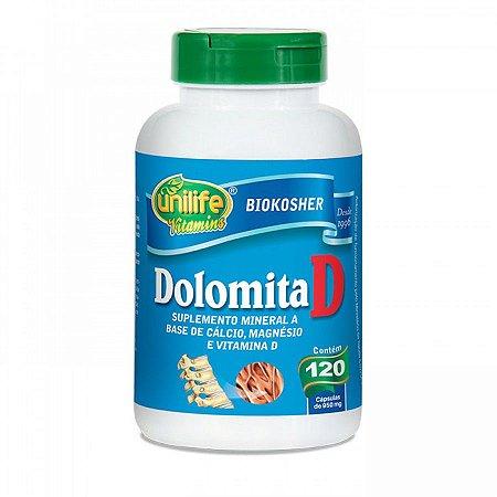 Dolomita D - 120 cápsulas - Unilife Vitamins