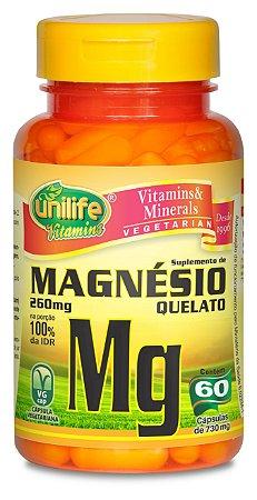 Magnésio Quelato Mg - 60 cápsulas - Unilife Vitamins