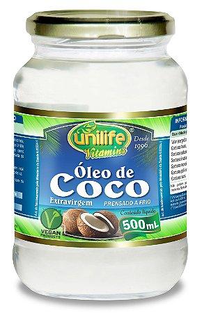 Óleo de Coco Extravirgem - 500ml - Unilife Vitamins