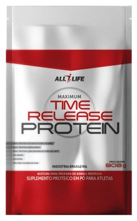 Time Release Protein - 908g - Chocolate - All Life Nutry