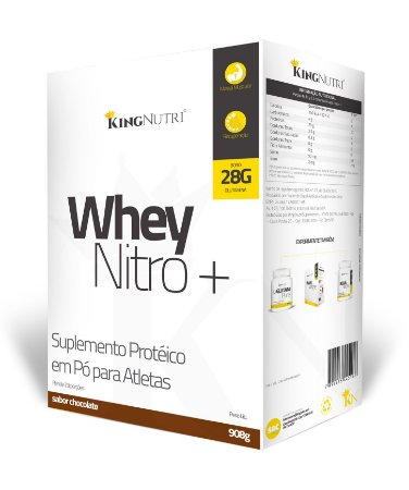 Whey Nitro+ - 908g - Chocolate - King Nutri