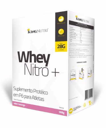 Whey Nitro+ - 908g - Morango - King Nutri