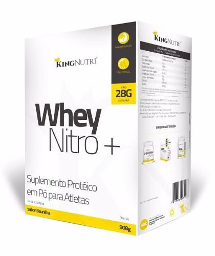 Whey Nitro+ - 908g - Baunilha - King Nutri