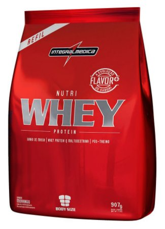 Nutri Whey Protein - Refil 907g - Morango - Integralmédica