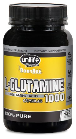 L-Glutamine 1000 - 120 cápsulas - Unilife Vitamins