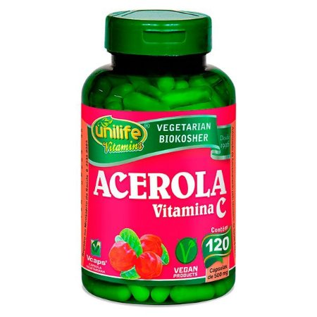 Acerola (Vitamina C) - 120 cápsulas - Unilife Vitamins