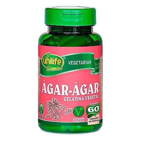 Ágar-Ágar - 60 cápsulas - Unilife Vitamins