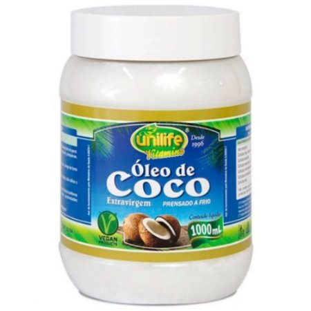 Óleo de Coco Extravirgem - 1000ml - Unilife Vitamins