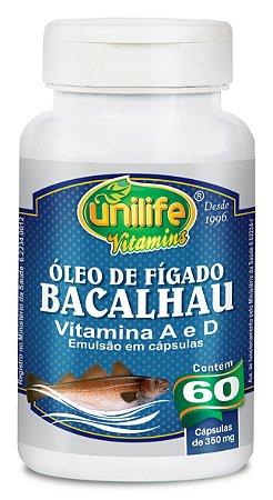 Óleo de Fígado de Bacalhau - 60 cápsulas - Unilife Vitamins