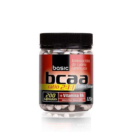 BCAA Ratio 2:1:1 - 200 cápsulas - Basic Nutrition