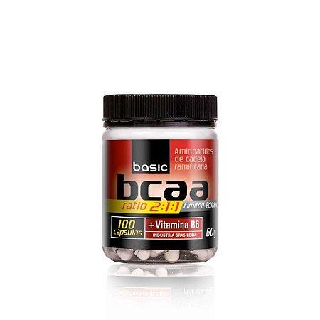 BCAA Ratio 2:1:1 - 100 cápsulas - Basic Nutrition