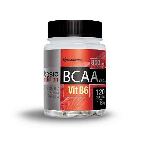 BCAA Vit B6 - 120 cápsulas - Basic Nutrition