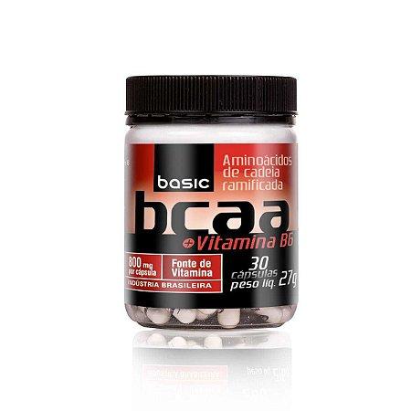 BCAA Vit B6 - 30 cápsulas - Basic Nutrition