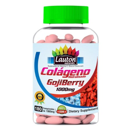 Colágeno Goji Berry - 180 comprimidos - Lauton Naturals