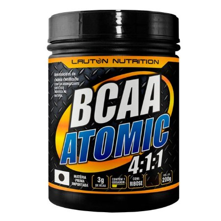 BCAA ATOMIC 4:1:1 - 200g - Melancia - Lauton Nutrition