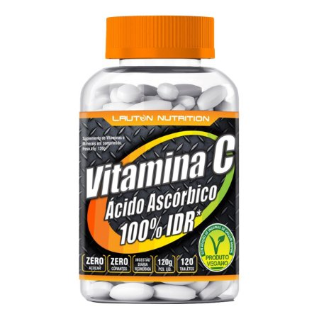 Vitamina C (Ácido Ascórbico) - 120 tabletes - Lauton Nutrition