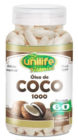 Óleo de Coco 1000 - 60 cápsulas - Unilife Vitamins