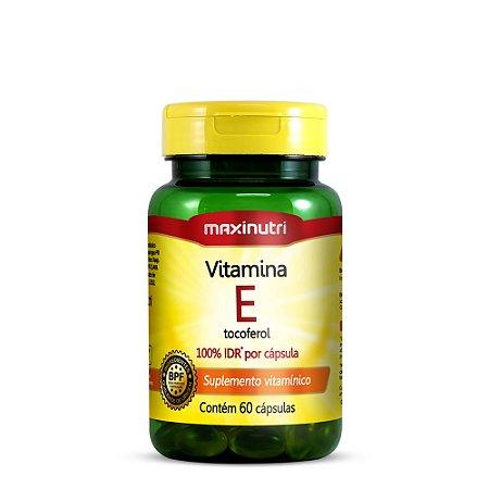 Vitamina E - 60 cápsulas - Maxinutri