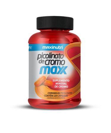 Picolinato de Cromo Max - 120 cápsulas - Maxinutri