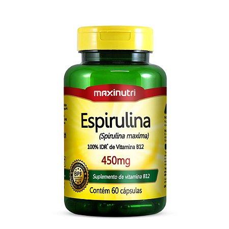 Espirulina - 60 cápsulas - Maxinutri