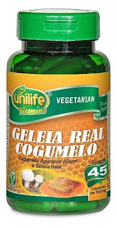 Geleia Real e Cogumelo - 45 cápsulas - Unilife Vitamins