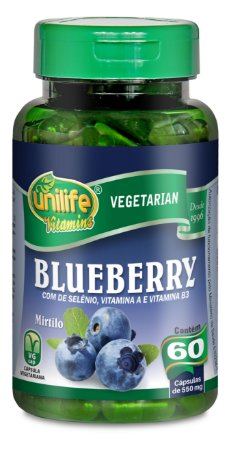 Blueberry - 60 cápsulas - Unilife Vitamins
