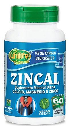 Zincal - 60 cápsulas - Unilife Vitamins