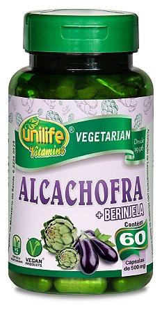 Alcachofra com Berinjela - 60 cápsulas - Unilife Vitamins