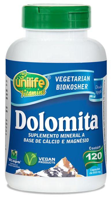 Dolomita - 120 cápsulas - Unilife Vitamins