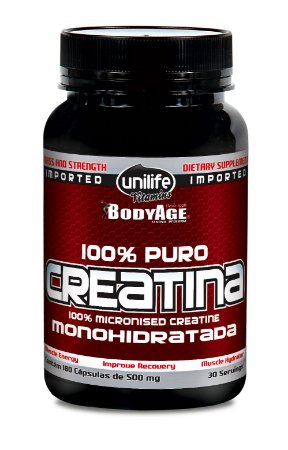Creatina - 180 cápsulas - Unilife Vitamins