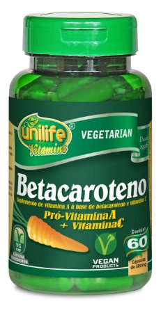 Betacaroteno - 60 cápsulas - Unilife Vitamins