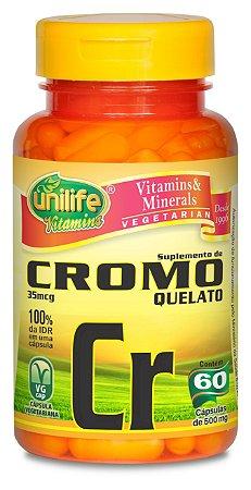 37632bdde Cromo Quelato Cr - 60 cápsulas - Unilife Vitamins - Vittalive ...