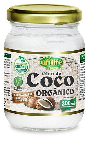 Óleo de Coco Orgânico Extravirgem - 200ml - Unilife Vitamins