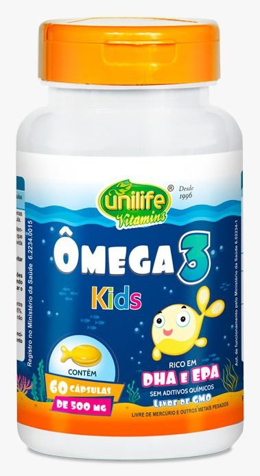 Ômega 3 Kids - 60 cápsulas - Unilife Vitamins