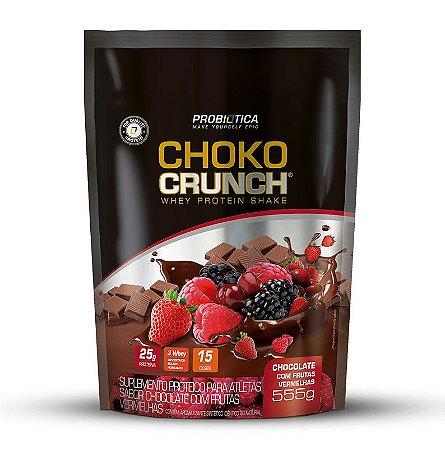 Choko Crunch Shake - 555g - Chocolate com frutas vermelhas - Probiótica
