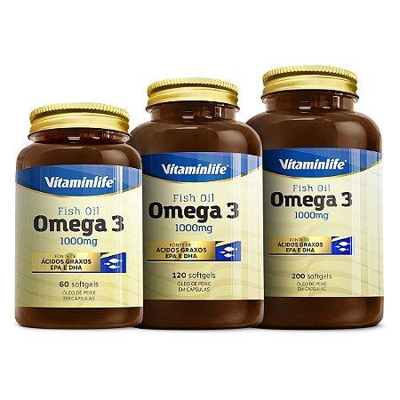 Ômega 3 1000mg - 60 cápsulas - VitaminLife