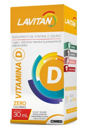 Vitamina D - 30ml - Limão - Lavitan Vitaminas